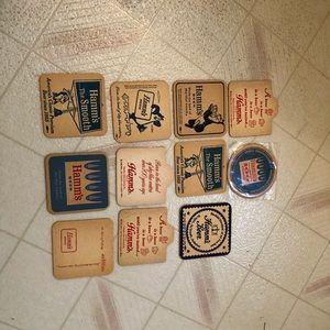 Lot of 11 Vintage Hamms Beer Coasters 70s